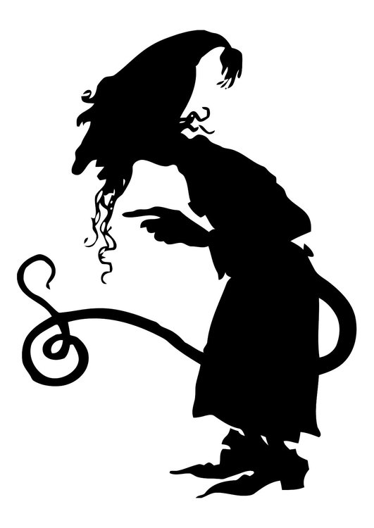 Coloring page fairytale figure