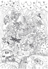 Coloring page fairytale forest