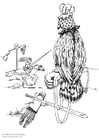 Coloring page falconer