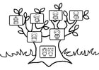 Coloring pages family tree