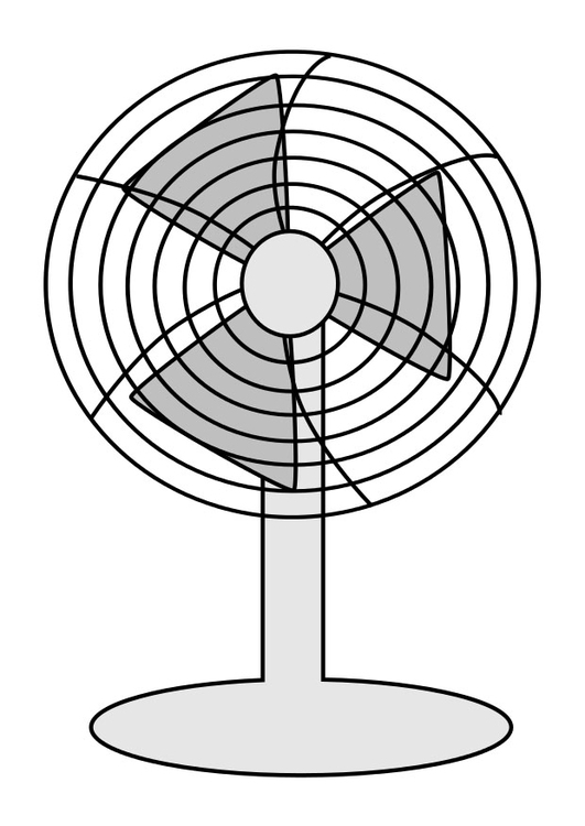 coloring page fan