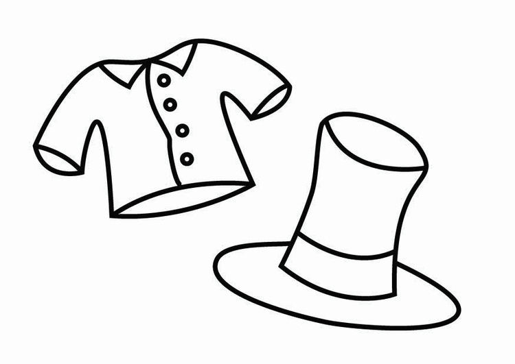 Coloring page fancy dress corner