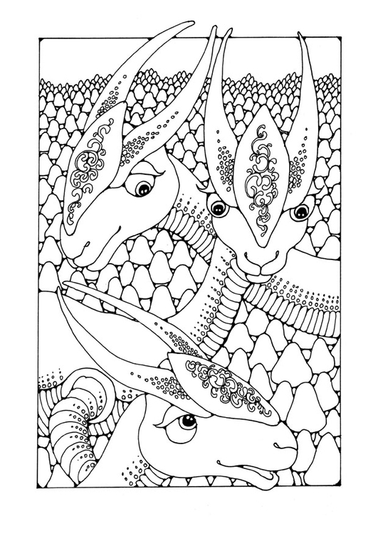 printable fantasy creatures coloring pages | Coloring page fantasy animals - img 25652. Images