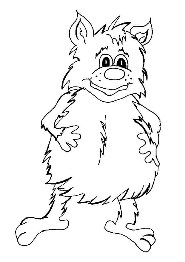 Coloring Page Fantasy Creature Img 9061
