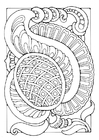 Coloring pages fantasy flower