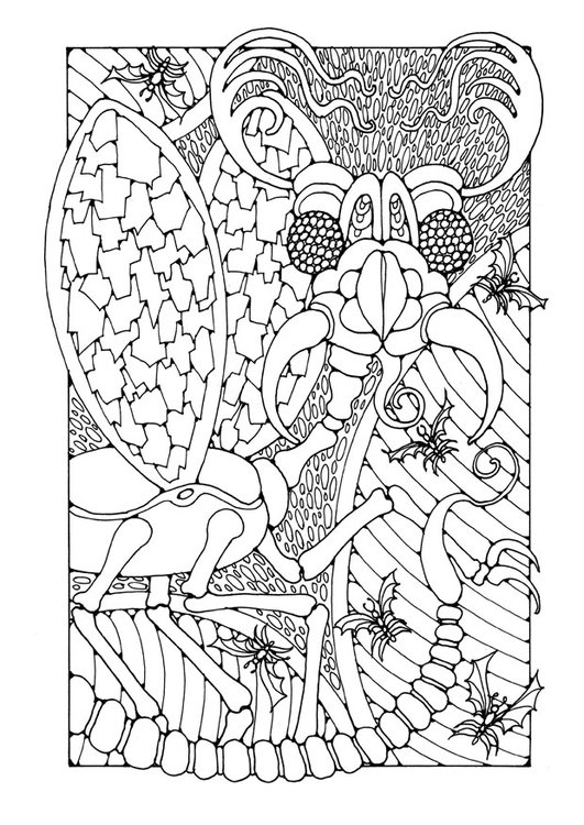 Coloring page fantasy insect
