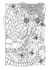 Coloring pages fantasy insect