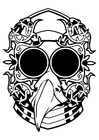 Coloring pages fantasy mask