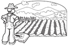 Coloring pages farmer 1