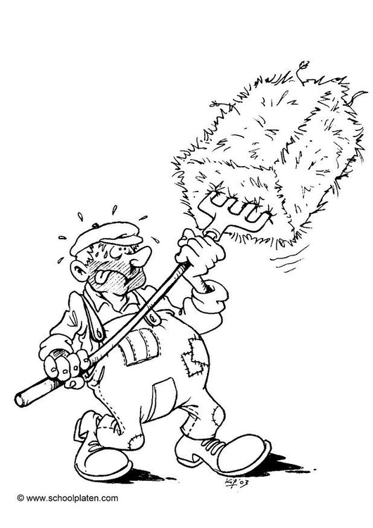 Coloring page farmer1