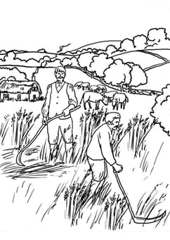 Coloring page Farmers