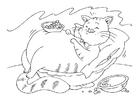 Coloring page fat cat