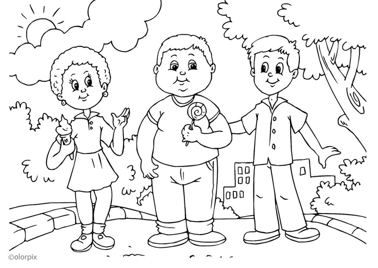 Coloring page fat