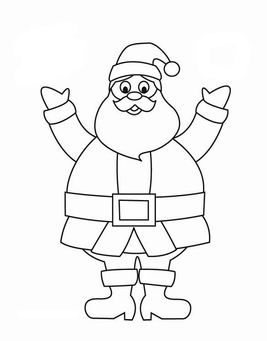 Coloring page Father Christmas