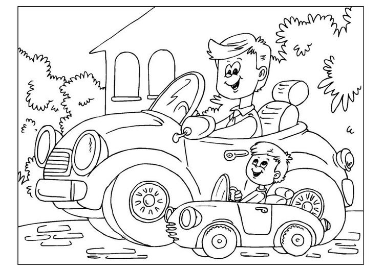 Coloring page Father's Day 01