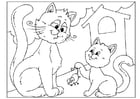 Coloring pages Father's Day - cats