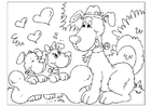 Coloring pages Father's Day - dogs