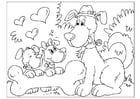 Coloring page Father's Day - dogs