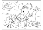Coloring pages Father's Day - mice