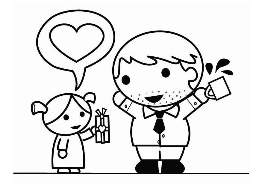 Coloring page father 39 s day with daughter img 26448 for Father and daughter coloring pages