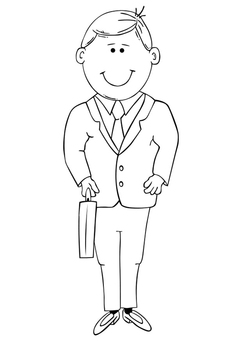 Coloring page father