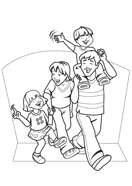 Coloring page father's day