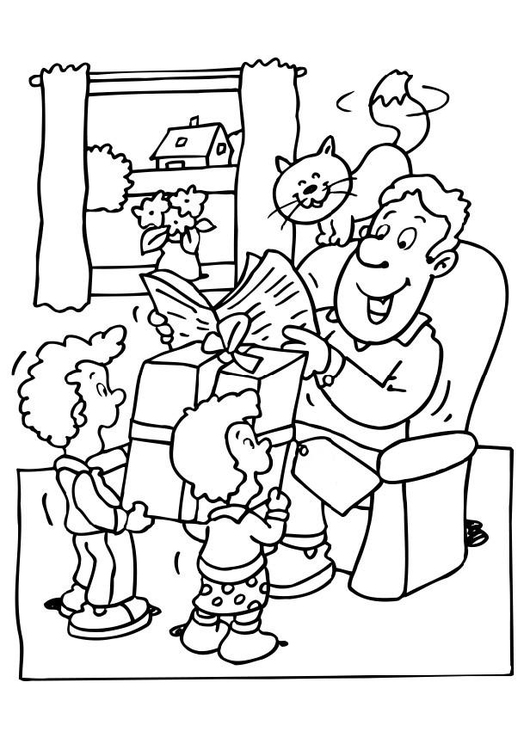 Coloring page Fathers' Day