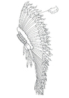 Coloring page feather headdress