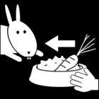 Coloring page feed the rabbits