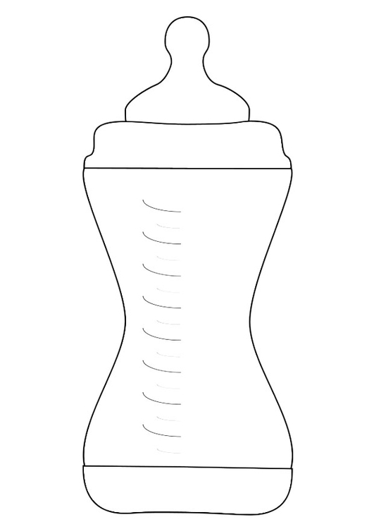 Coloring page feeding bottle