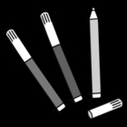Coloring pages felt-tip pens