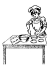 Coloring pages female chef