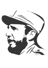 Coloring pages Fidel Castro