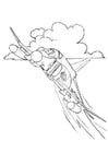 Coloring page fighter jet