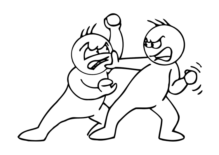 Coloring page fighting
