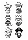 Coloring pages figures