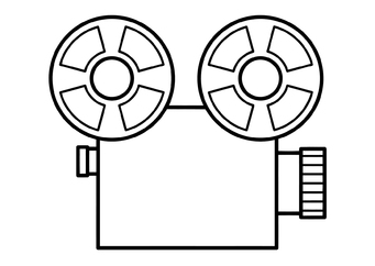 Coloring page film projector