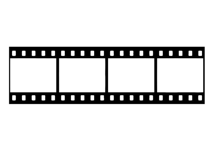 Coloring page film strip, film negative