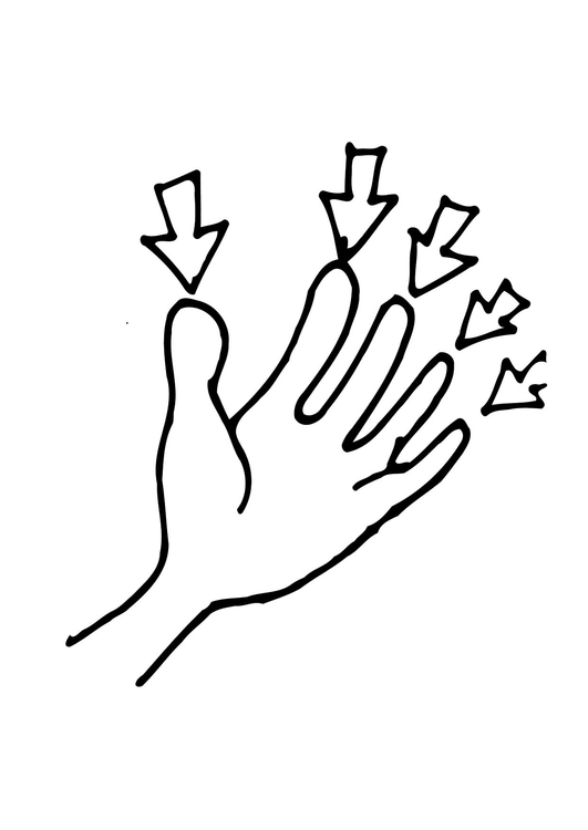 finger coloring page - coloring page fingers img 11485
