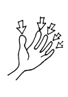Coloring page fingers