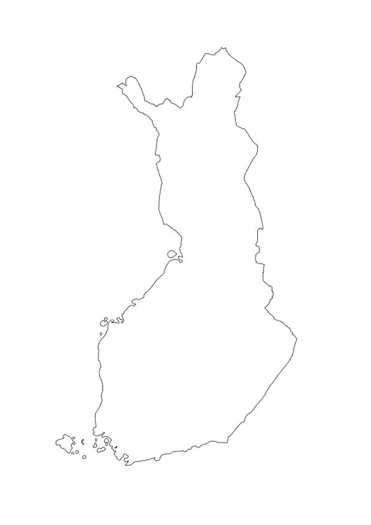 Coloring page Finland