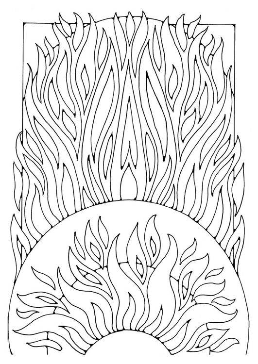 Coloring page fire