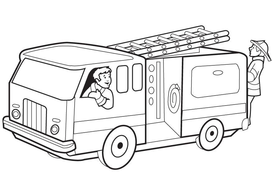 - Coloring Page Fire Engine - Free Printable Coloring Pages