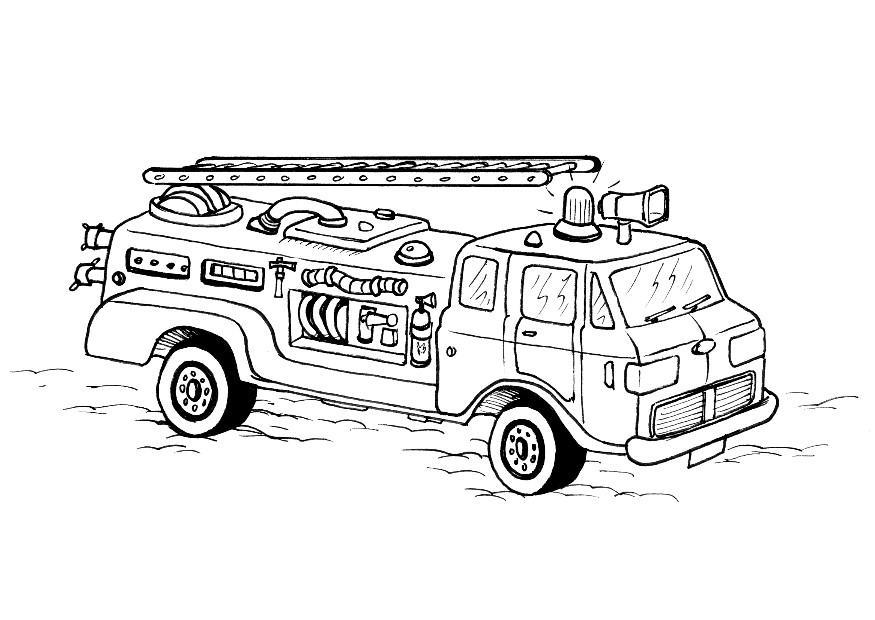 Coloring page fire engine - img 8178.