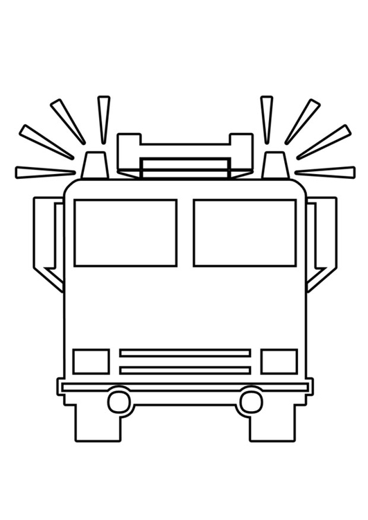Coloring page fire engine