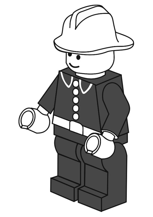 Coloring page firefighter