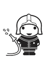 Coloring pages Firefighter