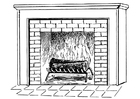 Coloring pages fireplace