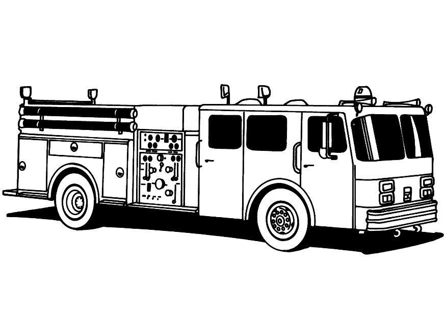 Coloring page firetruck - img 8172.