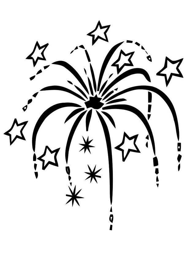 Coloring Page Fireworks Free Printable Coloring Pages